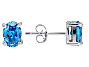 Bella Luce® Esotica™ 2.60ctw  Neon Apatite Simulant Sterling Silver Stud Earrings