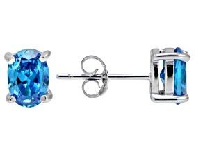 Bella Luce® Esotica™ 2.60ctw  Neon Apatite Simulant Sterling Silver Stud Earrings