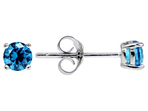 Bella Luce® Esotica™ .86ctw Neon Apatite Simulant Sterling Silver Stud Earrings