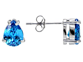 Bella Luce® Esotica™ 3.70ctw  Neon Apatite Simulant Sterling Silver Stud Earrings