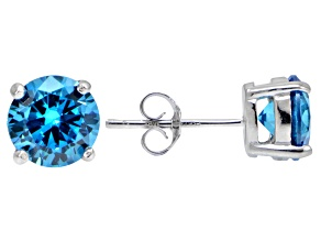 Bella Luce® Esotica™ 4.34ctw Neon Apatite Simulant Sterling Silver Stud Earrings