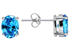 Bella Luce® Esotica™ 4.12ctw Neon Apatite Simulant Sterling Silver Stud Earrings