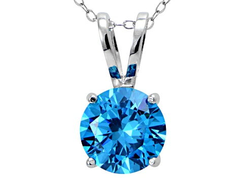 Bella Luce® Esotica™ 6.58ct Neon Apatite Simulant Sterling Silver Pendant With  Chain