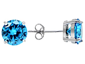 Bella Luce® Esotica™ 6.92ctw  Neon Apatite Simulant Sterling Silver Stud Earrings