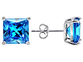 Bella Luce® Esotica™ 10.24ctw  Neon Apatite Simulant Sterling Silver Stud Earrings
