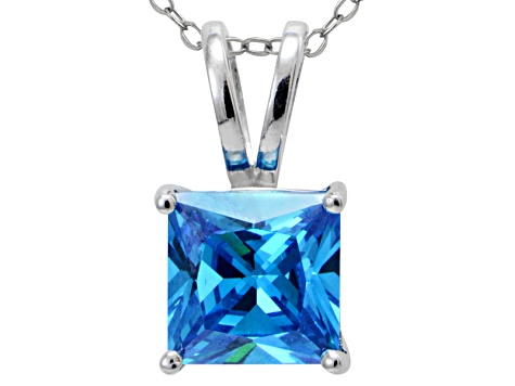 Bella Luce® Esotica™ 7.01ct Neon Apatite Simulant Sterling Silver Pendant With  Chain