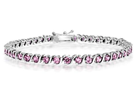 Bella Luce 7 56ctw Pink Diamond Rhodium Over Silver Tennis Bracelet