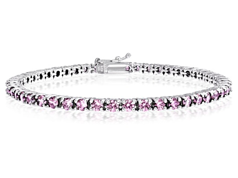 Bella Luce 9 00ctw Pink Diamond Simulant Rhodium Over Silver Tennis Bracelet