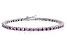 Bella Luce® 9.00ctw Pink Diamond Simulant Rhodium Over Silver Tennis Bracelet
