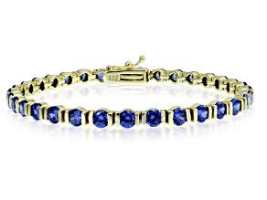 Bella Luce® Esotica™ Tanzanite Simulant 18k Gold Over Silver Bracelet