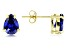 Bella Luce® Esotica™ Tanzanite Simulant 18k Gold Over Silver Earrings