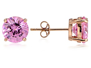 Bella Luce® 6.90ctw Pink Diamond Simulant 18k Rose Gold Over Silver Earrings