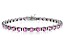 Bella Luce® 13.75ctw Pink Diamond Simulant Rhodium Over Silver Tennis Bracelet