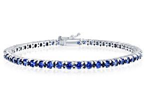 Bella Luce® Esotica™ Tanzanite Simulant Rhodium Over Silver Bracelet