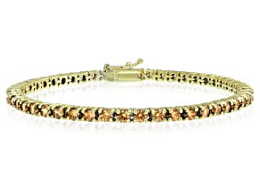 Bella Luce® 9.00ctw Champagne Diamond Simulant 18k Gold Over Silver Bracelet