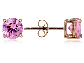 Bella Luce® 2.86ctw Pink Diamond Simulant 18k Rose Gold Over Silver Earrings