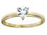 Bella Luce® .75ct Heart Shape Diamond Simulant 18k Gold Over Silver Ring