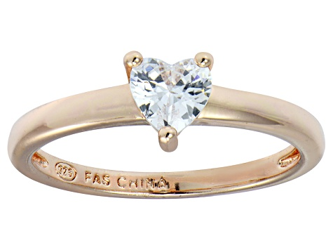 Bella Luce® .75ct Heart Shape Diamond Simulant 18k Rose Gold Over Silver Ring