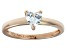 Bella Luce® .75ct Heart Shape Diamond Simulant 18k Rose Gold Over Silver Ring
