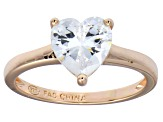Bella Luce® 2.90ct Heart Shape Diamond Simulant 18k Rose Gold Over Silver Ring