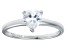 Bella Luce® 1.25ct Heart Shape Diamond Simulant Rhodium Over Silver Ring