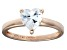 Bella Luce® 1.92ct Heart Shape Diamond Simulant 18k Rose Gold Over Silver Ring