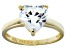 Bella Luce® 4.10ct Heart Shape Diamond Simulant 18k Gold Over Silver Ring