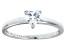 Bella Luce® .75ct Heart Shape Diamond Simulant Rhodium Over Silver Ring