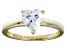 Bella Luce® 1.92ct Heart Shape Diamond Simulant 18k Gold Over Silver Ring