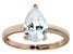 Bella Luce® 3.06ct Pear Shape Diamond Simulant 18k Rose Gold Over Silver Ring