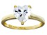 Bella Luce® 2.90ct Heart Shape Diamond Simulant 18k Gold Over Silver Ring