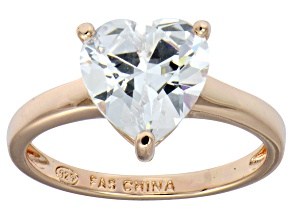 Bella Luce® 4.10ct Heart Shape Diamond Simulant 18k Rose Gold Over Silver Ring