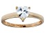 Bella Luce® 1.25ct Heart Shape Diamond Simulant 18k Rose Gold Over Silver Ring