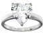 Bella Luce® 5.38ct Heart Shape Diamond Simulant Rhodium Over Silver Ring