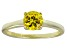 Bella Luce® 1.43ct Yellow Diamond Simulant 18k Gold Over Silver Solitaire Ring