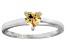 Bella Luce® .75ct Champagne Diamond Simulant Rhodium Over Silver Ring