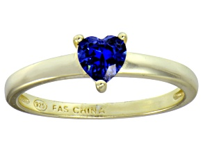 Bella Luce® .75ct Tanzanite Simulant 18k Gold Over Silver Solitaire Ring