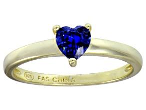 Bella Luce® .75ct Tanzanite Simulant 18k Gold Over Silver Solitaire Ring