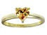 Bella Luce® 1.25ct Champagne Diamond Simulant 18k Gold Over Silver Ring