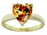Bella Luce® 4.10ct Champagne Diamond Simulant 18k Gold Over Silver Ring