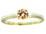 Bella Luce® .79ct Champagne Diamond Simulant 18k Gold Over Silver Ring
