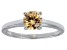 Bella Luce® 1.43ct Champagne Diamond Simulant Rhodium Over Silver Ring