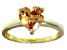 Bella Luce® 2.90ct Champagne Diamond Simulant 18k Gold Over Silver Ring