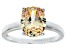 Bella Luce® 4.31ct Champagne Diamond Simulant Rhodium Over Silver Ring