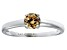 Bella Luce® .79ct Champagne Diamond Simulant Rhodium Over Silver Ring