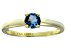 Bella Luce® .79ct Apatite Simulant 18k Gold Over Silver Solitaire Ring