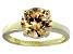 Bella Luce® 4.68ct Champagne Diamond Simulant 18k Gold Over Silver Ring