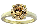 Bella Luce® 4.68ct Champagne Diamond Simulant 18k Gold Over Silver Ring