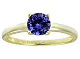 Bella Luce® 1.43ct Tanzanite Simulant 18k Gold Over Silver Solitaire Ring