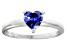 Bella Luce® 1.25ct Tanzanite Simulant Rhodium Over Silver Solitaire Ring